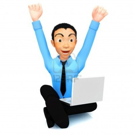 10461102-hombre-de-negocios-exitoso-3d-con-un-ordenador-portatil-y-brazos-arriba